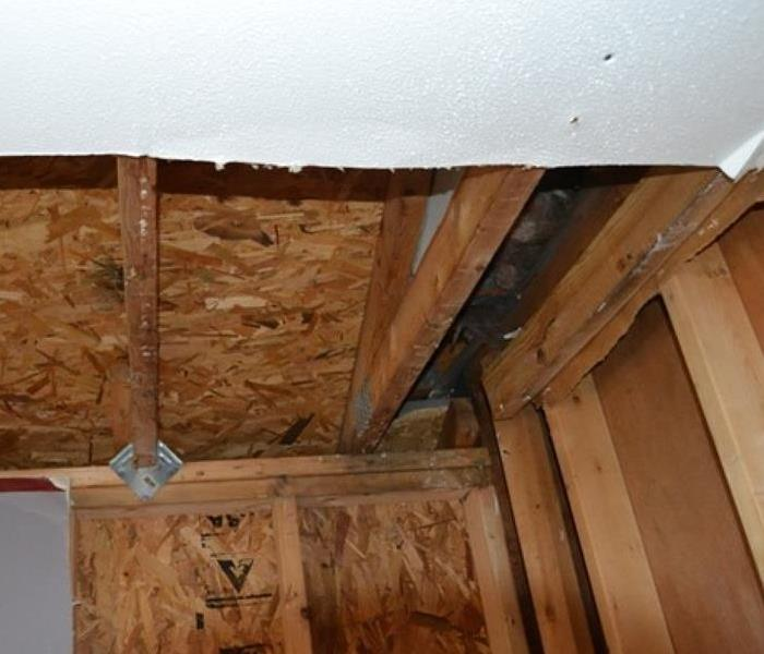 exposed framing in ceiling